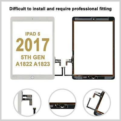 Touch Screen Glass Lens Digitizer For Apple IPad 5 2017 A1822/23 White • 11.99£