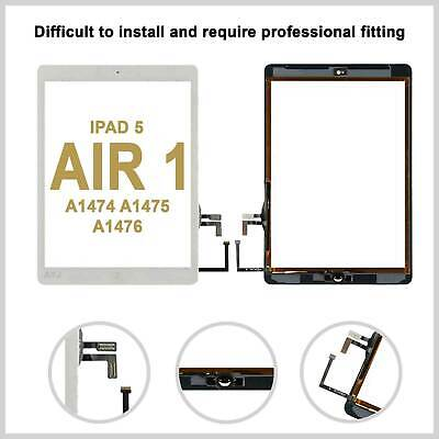 Touch Screen Digitizer Glass Lens For IPad Air 1 A1474 A1475 A1476 IC -White • 10.99£