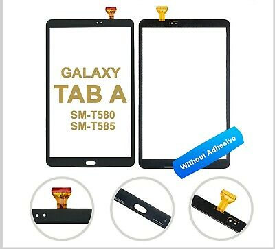 Touch Front Glass Digitizer For Samsung Galaxy Tab A 10.1 T580-T585 NEW - BLACK • 12.99£