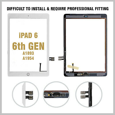 Apple IPad 6th Gen 2018 Touch Screen Digitizer Glass + IC White UK • 15.95£