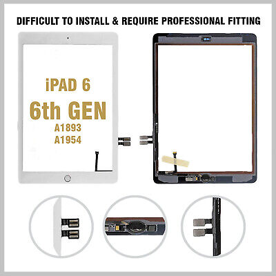 Touch Screen Digitizer Glass Replacement For 2018 IPad 6th Gen A1893 White + IC • 14.99£