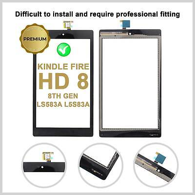Touch Screen Digitizer For Amazon KINDLE FIRE HD 8 8th Gen Glass Top Lens LS583A • 9.99£