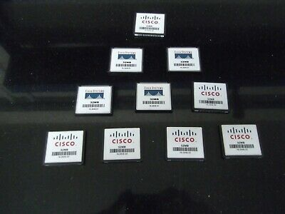 10 X Cisco 32MB Compact Flash Card Valuable Addition To Your Cisco CCNA CCNP Lab • 20£