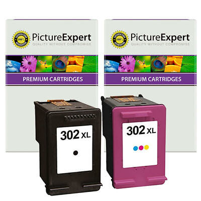 302XL Text Quality Black & Colour Ink Cartridge Pack For HP Deskjet 3636 • 22.98£