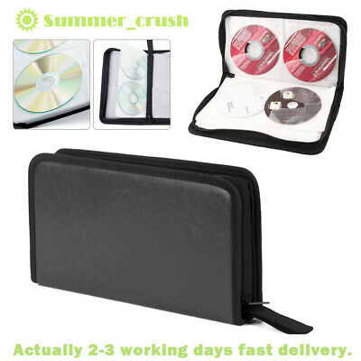 Portable 80x Disc CD VCD DVD Carry Bag Car Storage Holder Case Wallet Organizer • 4.99£