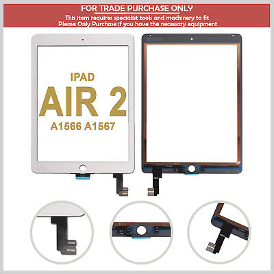 For IPad Air 2 A1566 A1567 Top Touch Screen Digitizer Glass Lens  - White • 15.99£