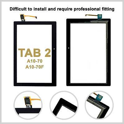Touch Screen Digitizer For TAB 2 A10-70 A10-70F Tablet • 9.99£