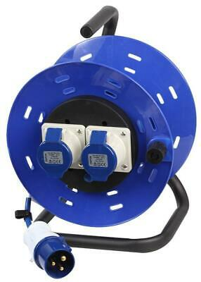 240V 2-Gang Extension Reel, 16A, 25m - PRO ELEC • 48.89£