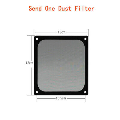 120x120mm Magnetic Black Mesh Dust Filter PC Cooler Fan Filter With Case Covers • 6.32£