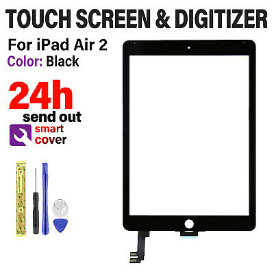 For IPad Air 2 A1566 A1567 Screen Replacement Touch Digitizer Glass Black OEM IC • 20.29£