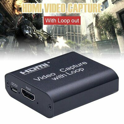 For Windows/Android/mac Video Capture Device 1080 HDMI Loop-out Disk Game Card K • 20.78£