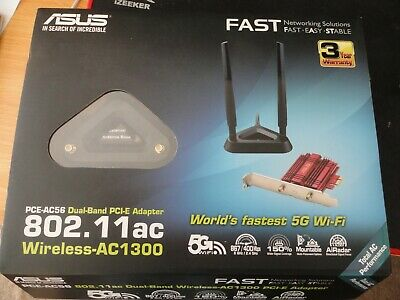ASUS PCE-AC56 AC1300 PCI Wireless Adapter With Extension Cables • 5.50£