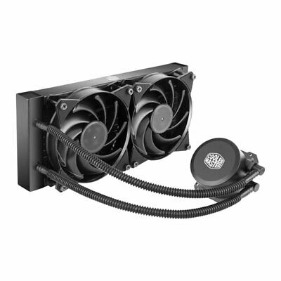 Cooler Master MasterLiquid Lite 240, All-In-One Hydro CPU Cooler, 2x120mm PWM Fa • 59.52£