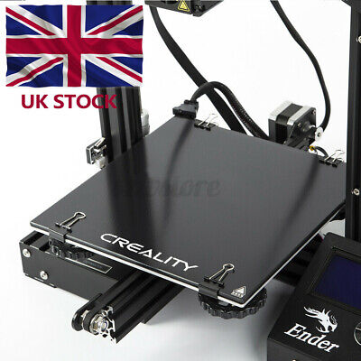 UK Creality 3D Ultrabase 235*235MM Glass Plate Platform For Ender-3 MK2 MK3 • 11.99£