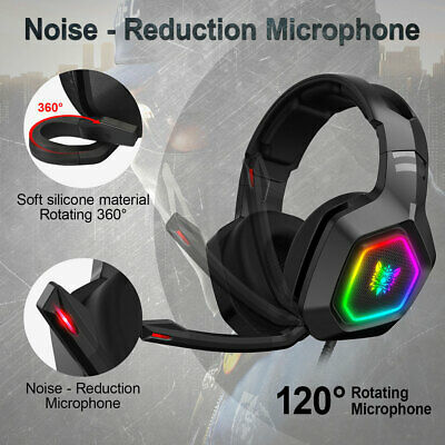 3.5mm K10 Gaming Headset LED MIC Headphones For PC Laptop PS4 Pro Xbox One • 20.99£