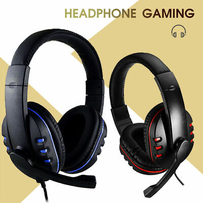 Stereo Video Gaming Headset For Xbox One PS4 Nintendo Switch & PC Mic Headphones • 12.39£