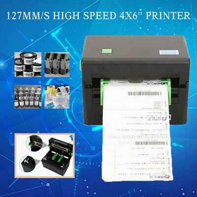 Portable Direct Thermal Label Barcode 127mm/s High Speed 4x6'' Printer XP-DT108B • 61.89£