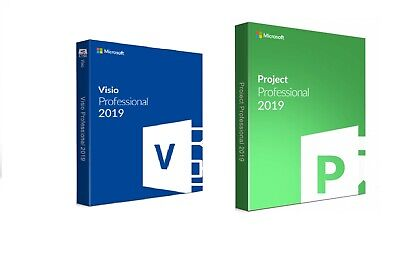 GENUINE Instant MS Project Professional 2019 And Visio PRO 2019 FOR 1 PC. • 9.99£