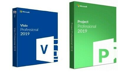GENUINE Project Professional 2019 And Visio PRO 2019 Key Instant Delivery • 8.99£