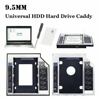 SATA To SATA 2nd HDD Caddy Adaptor For 9.5 MM DELL TOSHIBA ACER ASUS HP SONY • 3.99£