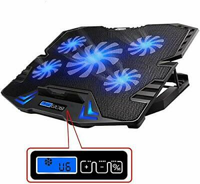 TopMate C5 12-15.6 Inch Gaming Laptop Cooler Cooling Pad, 5 Quiet Fans And LCD • 27.99£