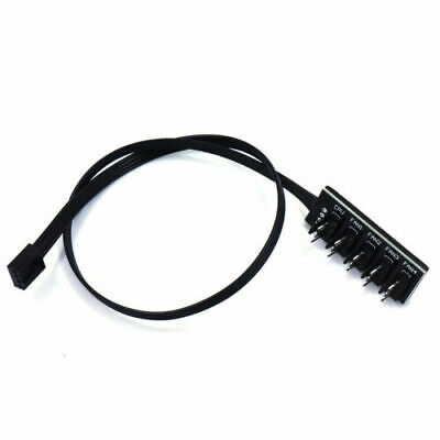5-Port 4-Pin PWM CPU Cooling Fan Adapter Cable Hub Splitter Lead PC Motherboard • 4.99£