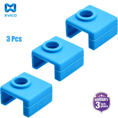 3 Pieces Silicone Sock Heater Block Cover For 3D Printer MK8 Heated Extrude • 2.98£