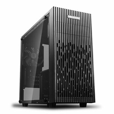 DEEPCOOL MATREXX 30 MicroATX Chassis, Tempered Glass, 1x 120mm Fan, USB 3.0, Mic • 30.78£