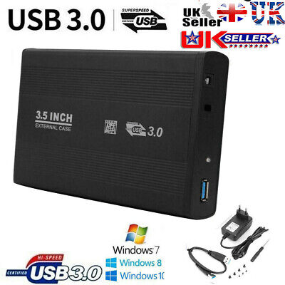 3.5  USB 3.0/2.0 SATA SSD Hard Drive External Enclosure HDD Mobile Disk Case Box • 13.29£