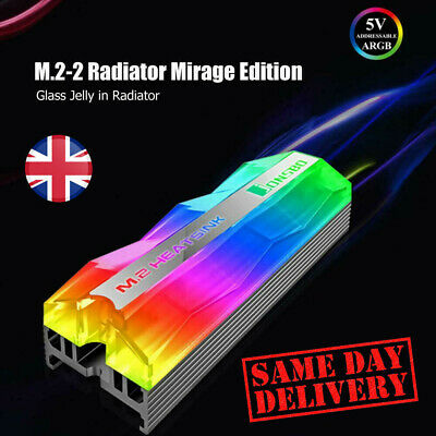 UK Jonsbo M.2-2 Color Light M.2 SSD Heatsink 5V 3Pin Solid State Drive Cooler  • 9.19£