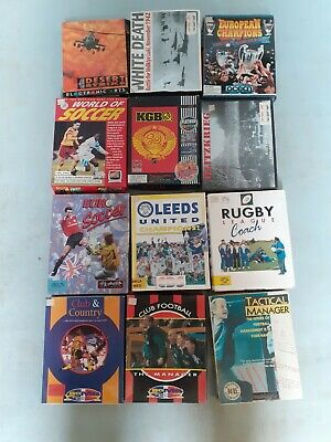 Amiga Computer Games, Mostly Football. Other Games Also. Original Boxes. • 20.09£
