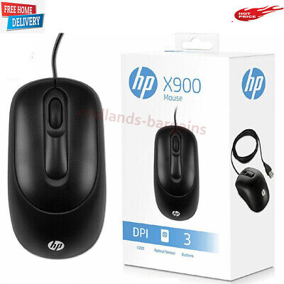 HP Business Office USB X900 Optical Mouse For PC/Computer/Laptop UK Seller • 8.29£