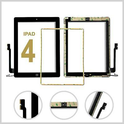Touch Screen For IPad 4 Touch Screen Mid Frame Bezel Home Button Replacement • 8.99£