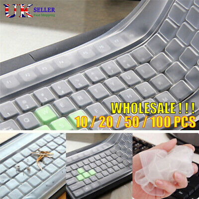 Universal Desktop Keyboard Protector Skin Silicone Protector Cover Film Bulk Lot • 3.95£