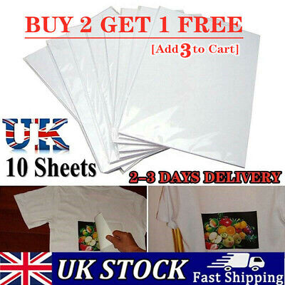 10PC A4 Heat Transfer Iron-On Paper For DIY Light & Dark Fabric Cloth T-shirt A • 3.39£