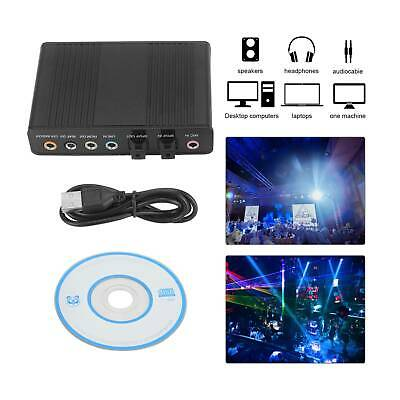 For PC USB 6 Channel 5.1 External SPDIF Optical Digital Sound Card Audio Adapter • 7.59£