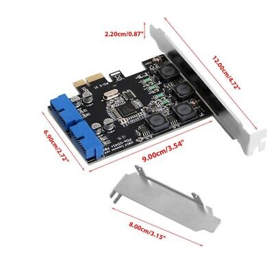 2Port 19 Pin USB3.0 Card PCI-e To Internal 20Pin Male Ports Adapter PCI Express • 12.99£