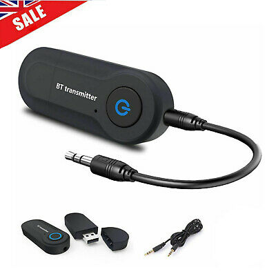 Bluetooth Audio Transmitter Wireless Stereo Sender Adapter USB For TV Speaker UK • 4.79£