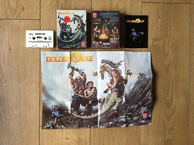 Golden Axe Commodore 64 C64 Boxed Tested Inc Poster • 24.99£