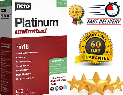 NERO Platinum Unlimited 2021 ✅ Full Version ✅ WINDOWS ✅ Fast Delivery • 6.99£