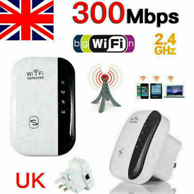 NEW WiFi Repeater Signal Range Booster Wireless Network Extender Amplifiers UK • 9.66£