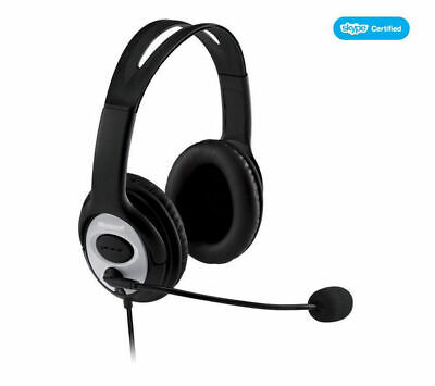 MICROSOFT LifeChat LX-3000 Headset Foldable With Call Functions - Black/Silver • 13.49£