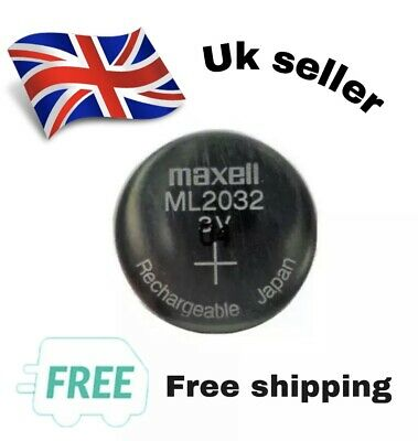 NEW ML2032 ML 2032 Rechargeable Battery.  Replacement For BIOS, CMOS, Dreamcast • 3.95£