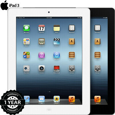 NEW Apple IPad 3 16 32 64GB WiFi Or 3G 9 7in Black Or White Various Grades 2020 • 124.89£