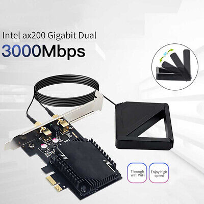 Wireless Network Card Antenna 3000M WiFi6 Pcie Signal Dual Frequency Gaming • 9.25£