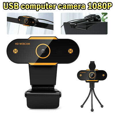 HD Gaming Webcam 1080P With Microphone USB 2.0 60 Fps PC Streaming Web Camera UK • 14.39£