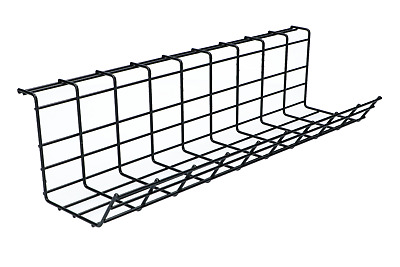 Under Desk Cable Management Tray Cable Rack Iron Mesh Basket Cord Organizer Box • 14.90£