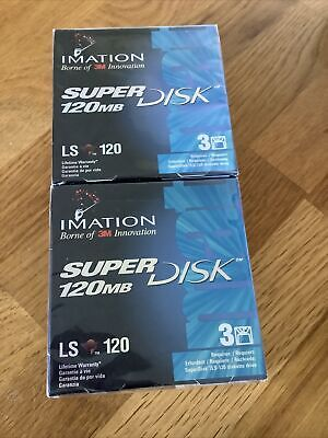 Six Imation Superdisk 120MB (Brand New And Sealed) • 19.99£