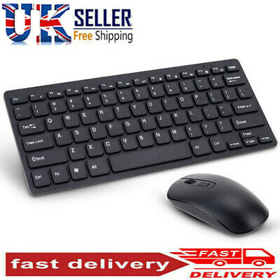 Slim 2.4GHz Cordless Wireless Keyboard And Mouse Set For PC MAC Laptop Tablet • 14.99£