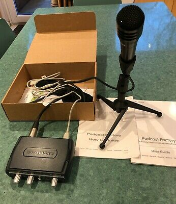 Podcast Microphone And Interface (m-audio) • 35£